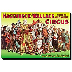 'Army of Clowns: Hagenbeck-Wallace Trained Wild Animal Circus' Canvas Art - Thumbnail 0