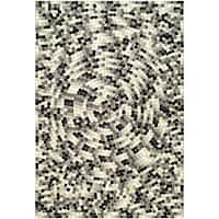 Safavieh Handmade Soho Mosaic Modern Abstract Black Wool Rug - 5' x 8'