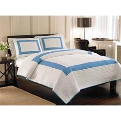 Stanhope Blue 3-piece Quilt Set - Thumbnail 0