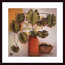 Margaret Hughlock 'Olive Bowl and Vase' Wood Print