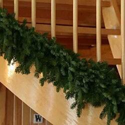 Fresh-cut 9-foot Maine Balsam Garland