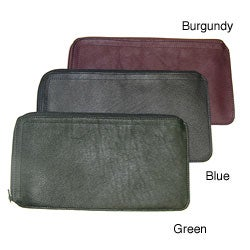 Royce leather zippered travel document pouch pack of 2 for Document pouch for shipping