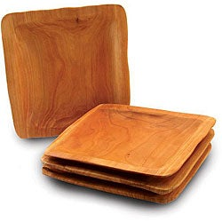 Set of 4 Enrico Rootworks Square Platters (China)