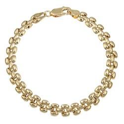 14k Gold over Silver 7-inch Panther-inspired Bracelet