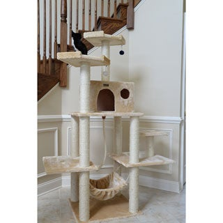 Armarkat Cat Jungle Gym Beige Scratcher With Condo