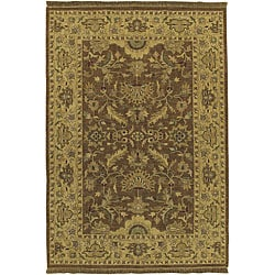 Hand-knotted Sangli New Zealand Wool Rug (6' x 9')