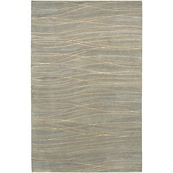 Hand-knotted Royal Abstract Design Wool Rug (8' x 11')