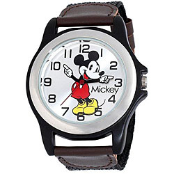 Thumbnail 1, Men's Black Case Disney's Mickey Mouse Watch.