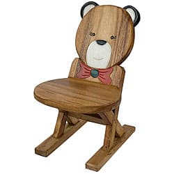 Phenomenal Handmade Acacia Wood Kids Bear Design Chair Thailand Overstock Com Shopping The Best Deals On Kids Chairs Pabps2019 Chair Design Images Pabps2019Com
