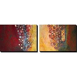 Natalia Russell 'Silent Life of Trees I and II' Canvas Art Set