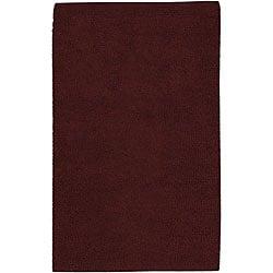 Hand-woven Olympus New Zealand Felted Wool Rug (5' x 8')