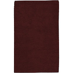 Hand-woven Red Wool Olympus Rug (4' x 10')