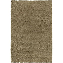 Hand-woven Beige Olympus Wool Rug (4' x 10')