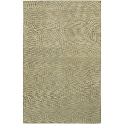 Hand-knotted Legacy Abstract Design Wool Rug (5' x 8')