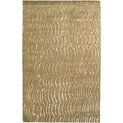 Hand-knotted Royal Abstract Design Wool Area Rug (5' x 8') - 5' x 8' - Thumbnail 0
