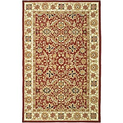 Safavieh Hand-hooked Kashan Red/ Ivory Wool Rug (6' x 9')