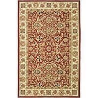 Safavieh Hand-hooked Kashan Red/ Ivory Wool Rug - 6' x 9'