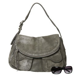 Lucky Brand Hazy Grey Suede Hobo-style Bag - Free Shipping Today ...