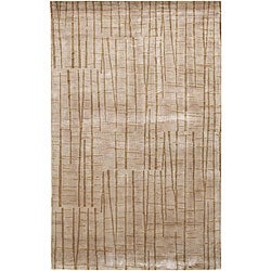 Hand-knotted Royal Abstract Design Wool Rug (5' x 8')