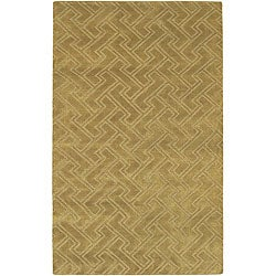 Hand-knotted Livno Basketweave Pattern Wool Area Rug (5' x 8') - Thumbnail 0