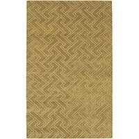Hand-knotted Livno Basketweave Pattern Wool Area Rug (5' x 8') - 5' x 8'