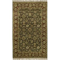 Hand-knotted New Zealand Wool Area Rug - 5' x 8'