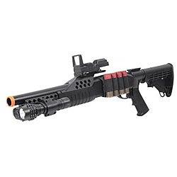 Spring M180C2 Extendable Stock Airsoft Shotgun - Thumbnail 0