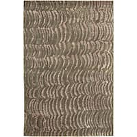 Hand-knotted Royal Abstract Design Wool Area Rug (4' x 6')