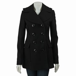 Miss Sixty Women's Double-breasted Wool Peacoat - Thumbnail 0