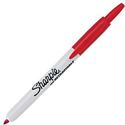 Sharpie Retractable Fine Point Red Permanent Marker