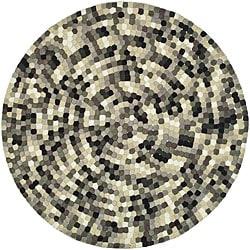 Safavieh Handmade Soho Mosaic Modern Abstract Black Wool Rug (6' x 6' Round)