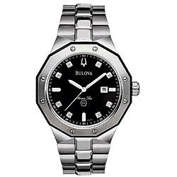 Bulova Men's Marine Star Stainless Steel Diamond Watch