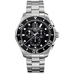 Tag Heuer Men's CAN1010.BA0821 Aquaracer Black Chronograph Watch