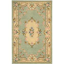 Nourison Hand-tufted Sage Floral Wool Rug (7'3 x 9'3) - Thumbnail 0