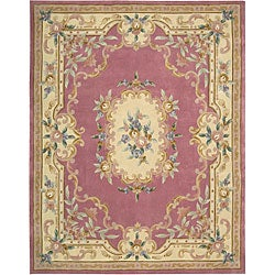 Nourison Hand-tufted Rose Floral Wool Rug (7'3 x 9'3) - Thumbnail 0