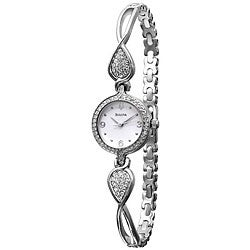 Bulova Women's Crystal Steel Watch