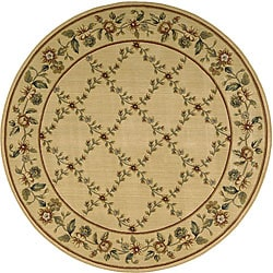 Nourison Arcadia Light Gold Rug - 7'5 x 7'5 - Thumbnail 0