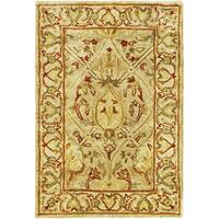 Safavieh Handmade Mahal Light Brown/ Beige New Zealand Wool Rug - 2' x 3'