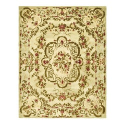 Safavieh Handmade Classic Ivory Wool Rug (8'3 x 11') - Thumbnail 0