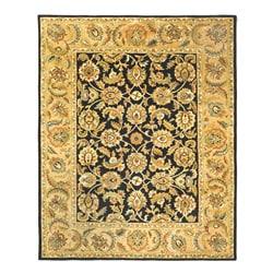 Safavieh Handmade Classic Black/ Gold Wool Rug (7'6 x 9'6)