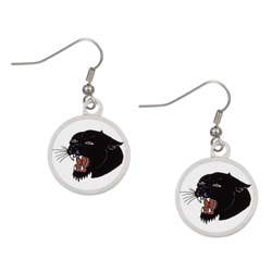 Ed Hardy Black Panther Earrings