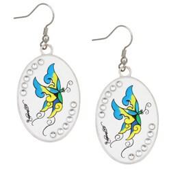 Ed Hardy Cubic Zirconia Butterfly Earrings