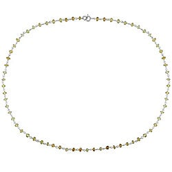 Sterling Silver Citrine Bead Necklace