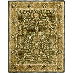 Safavieh Handmade Classic Light Green/ Gold Wool Rug (9'6 x 13'6)