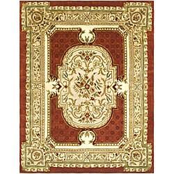 Safavieh Handmade Classic Burgundy/ Beige Wool Rug (9'6 x 13'6)