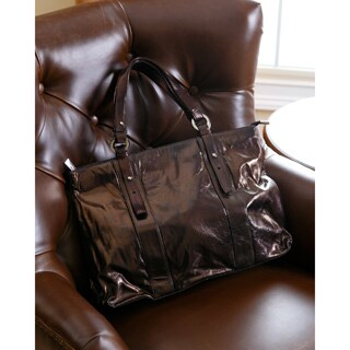 Abbyson Cosmo Italian Leather Tote
