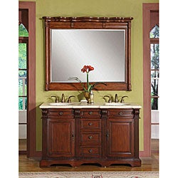 Silkroad Exclusive Saratoga Double-sink Bathroom Vanity