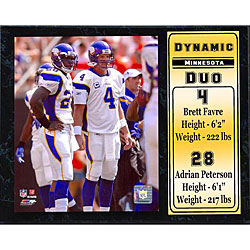 Minnesota Vikings 'Dynamic Duo' 12x15-inch Plaque
