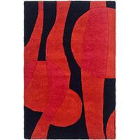 Safavieh Handmade Soho Flora Black/ Red New Zealand Wool Rug - 2' x 3'