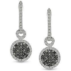Miadora 10k Gold 1/3ct TDW Black/ White Diamond Earrings (H-I, I2-I3)